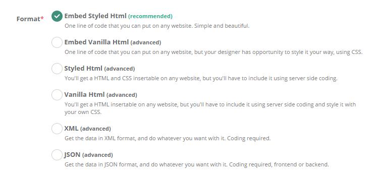 API / Embed Documentation @ Sessionize com